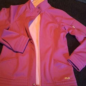 Pink Fila jacket Size S